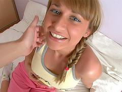 hot teen in POV video