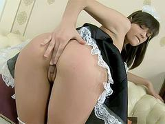 Naughty french maid anal fucked