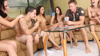 Spicy Roulette video with group strip poker