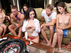 Sex Roulette game featuring Tanner & Alexis Capri