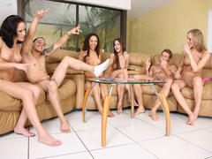 SpicyRoulette episode with group strip poker