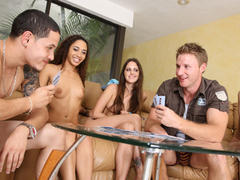 Hot teens playing strip poker for sex