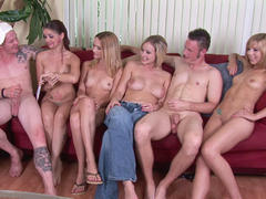 college girl in group sex on party