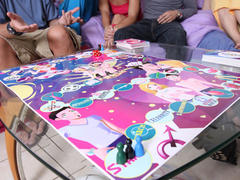 7 amateurs playing sex board game