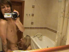teen girl swallow cock in bathroom