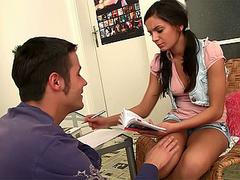 Cutie gets hard banged by her tutor