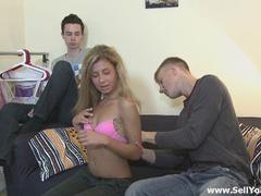 white hair teen getting penetrated